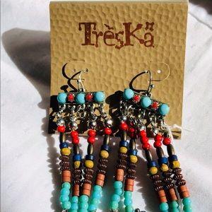 Treska Multiple Color dangling Earring